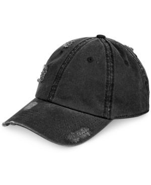 American Rag Men's Distressed Hat, Only at Macy's - Black