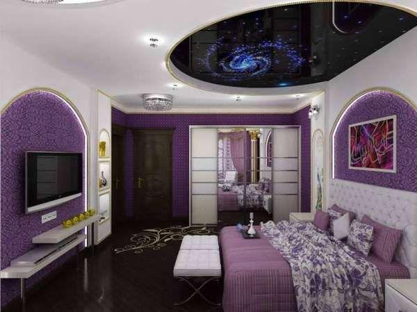 2015 Yatak Odası Yıldızlı Tavan Dekorasyonu Resim   1