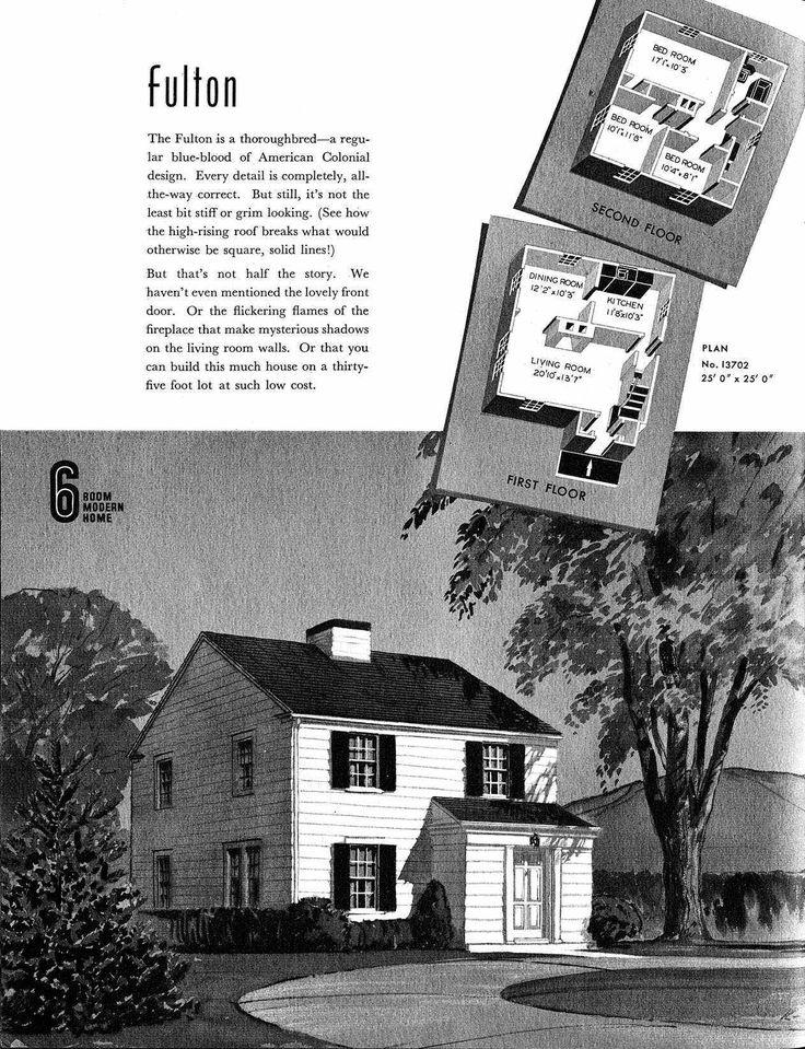 Sears Fulton 1940 American Colonial Architecture