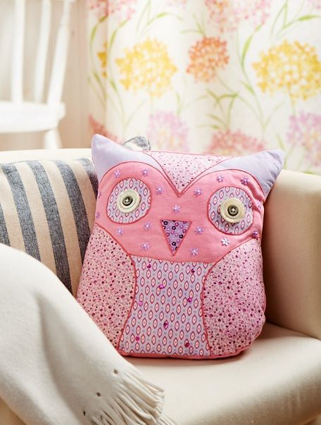 Owl Cushion Pattern & Applique - Free Card Making Downloads | Stitching | Digital Craft – Crafts Beautiful Magazine
