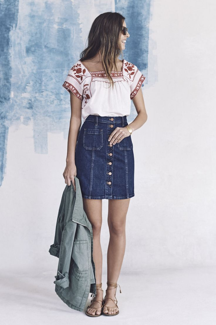 17 Best ideas about Button Front Denim Skirt on Pinterest | Jean ...