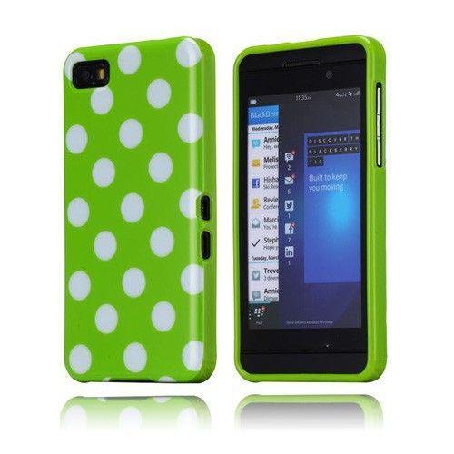 Polka Dots (Grønn) BlackBerry Z10 Deksel