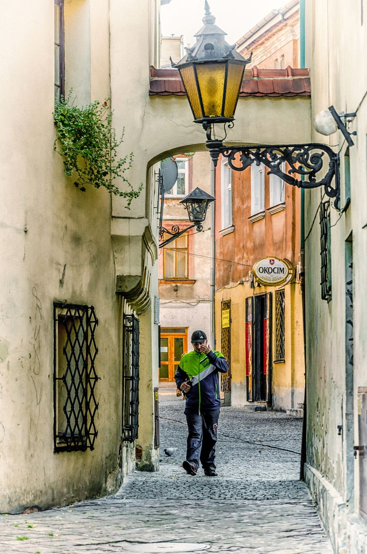 alley - part of the old town - Tarnow - Poland