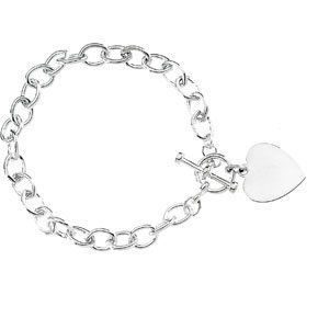925 Sterling Silver Cable Bracelet W\Toggle & Heart 8 Inch GoldenMine. $131.00. This jewelry is symbolic in nature and can be the perfect gift for any and all occasions. Promptly Packaged with Free Shipping and Free Gift Box... Perfect for Gift Giving. This item features a high polish finish for Excellent sparkle and pop. Completely redesigned and revamped for the year 2012. Manufactured using up-to-date manufacturing techniques ensuring the highest quality and value. Save 71%!