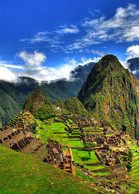 Machu Pichu, Peru (not for the faint of heart but I would still attempt it.  Because...how could you not, you know?)