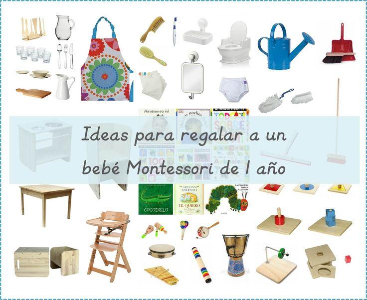 50+ ideas para regalar a un bebé Montessori de 1 año  -  50+ gift ideas for a Montessori 1 year-old