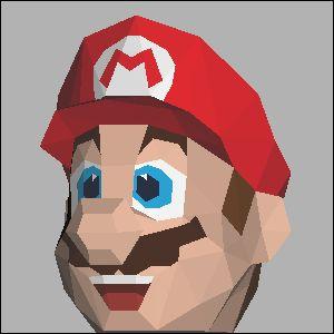 スーパーマリオの展開図 似顔絵 無料 ダウンロード ペーパークラフトファン