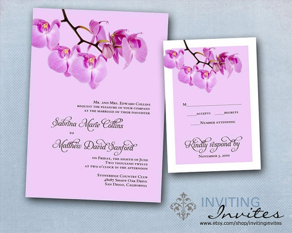 Blue Orchid Wedding Invitations: 25+ Best Ideas About Purple Orchid Wedding On Pinterest