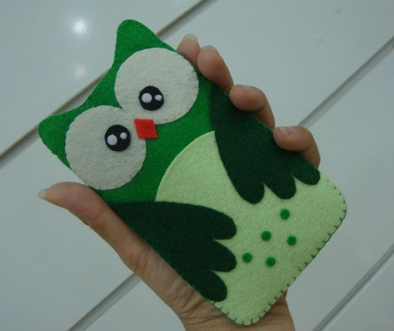 Owl Felt Phone Case