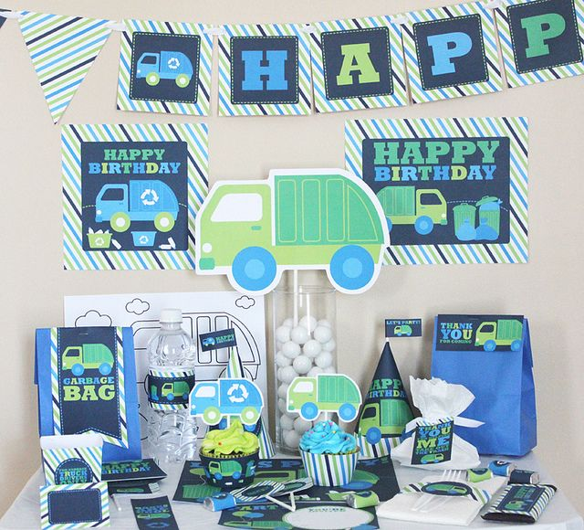 Garbage truck themed B-day.  I know it's 6 months away but it's never too early to start planning!