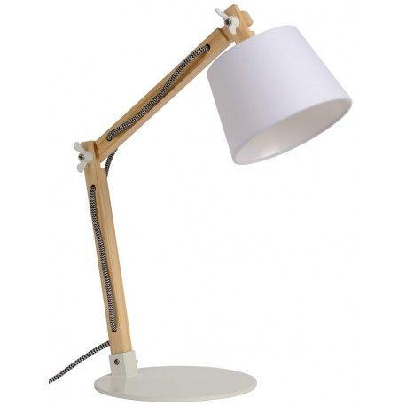 Stylowa lampa stołowa Olly wykonana z połączenia drewna i tkaniny w skandynawskim stylu. https://blowupdesign.pl/pl/31-wiszace-stojace-lampy-drewniane-design-skandynawski #lamkinocne #lampybiurkowe #lampystołowe #lampydrewniane #stylskandynawski #tablelamps #woodenlamps #scandinavianstyle