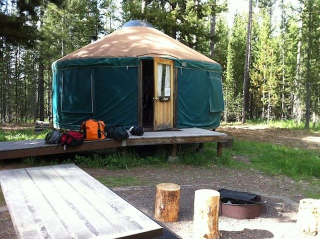 Yellowstone National Park lodging alternative: stay outside the park at Harriman State Park and enjoy a private yurt and bird sanctuary in solitude! www.pitstopsforkids.com