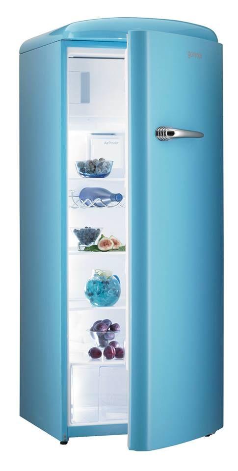RB60299OBL - Retro Baby Blue Freestanding Refrigerator