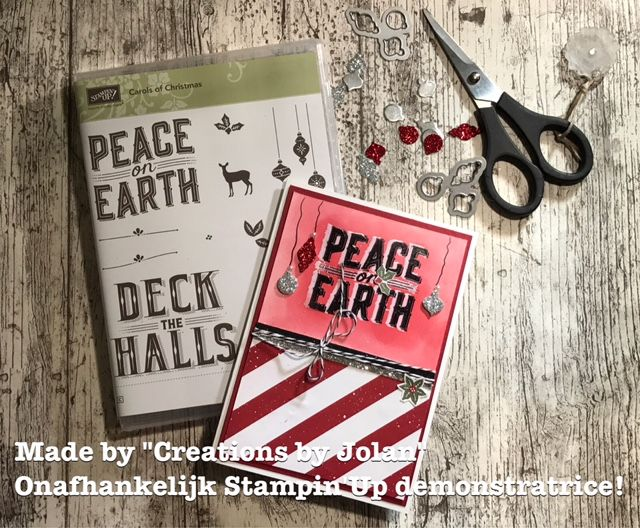 Creations by Jolan #resistembossing #stampinup #carolsofchristmas #kerskaart #christmascard #creationsbyjolan