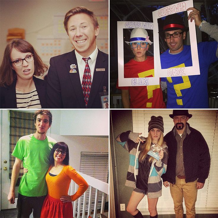 Though it's still September, check out these last-minute couples Halloween costumes that are super easy to put together!