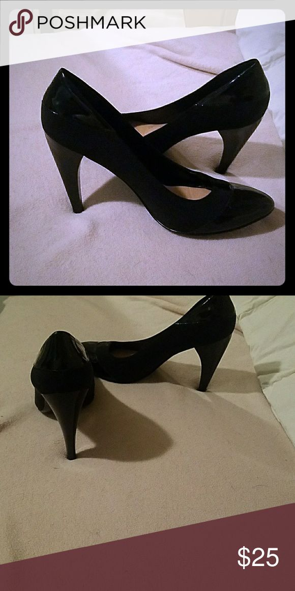 Shoes on high hells Black high heels woman shoes Nine West Shoes Heels