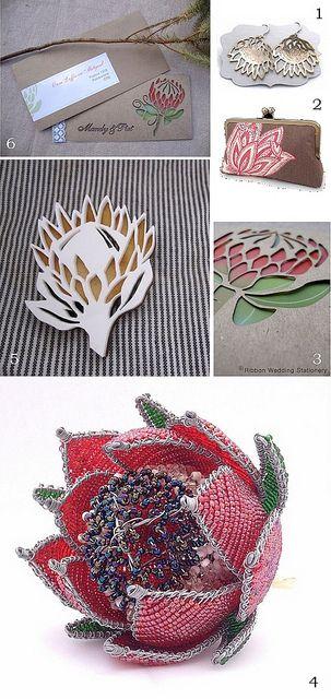 Protea_wedding_accessories by Lovilee, via Flickr