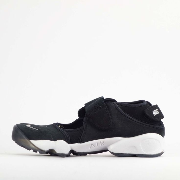Nike Air Rift Anniversary QS Mens Shoes in Black/Silver #Nike #CasualTrainers