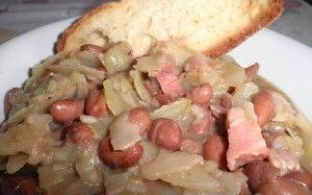 Minestra di cavolo cappuccio fagioli e pancetta con pane di Altamura #blog #cucina #cucinare #food #blog #food