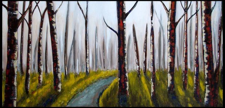 Forestlight 100x50cm acryl