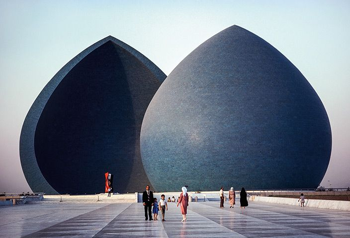 Credit: Steve McCurry /National Geographic Iraq, 1984 Baghdad's al-Shaheed Monument, with its eternal flame, commemora...
