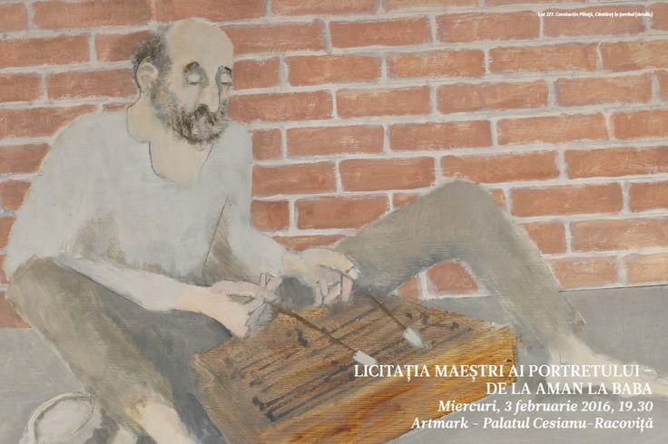 Catalog Artmark Maestri ai Portretului de la Aman la Baba!Recomandari: Taran cu cocul - Ludovic Bassarab ulei pe lemn, 23 × 19.5 cm, semnat dreapta jos.