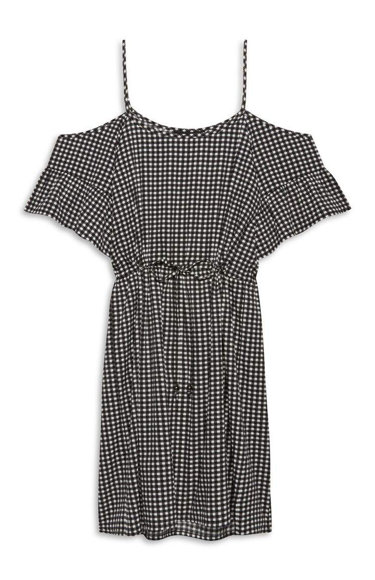 Primark - Gingham Cold Shoulder Dress