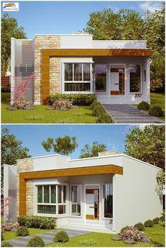 Lindo projeto de estilo moderno que valoriza e oferece um destaque especial para uma casa pequena. Esta casa apresenta uma área de quase 70m² e foi projetada para atender uma família de até 5 pessoas. É composta de 1 suíte, 2 quartos, 1 banheiro social, cozinha, sala de estar e lavanderia. Confira o projeto completo em: http://www.plantasdecasas.com/projetos/casa-natal-estilo-moderno-para-casa-pequena-com-3-quartos-e-suite/