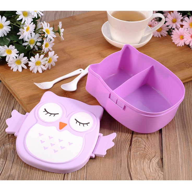 Children Gifts Cartoon Owl Lunch Box Food Fruit Storage Container Portable Bento Box Safe Food Picnic Container Hot Lunchbox