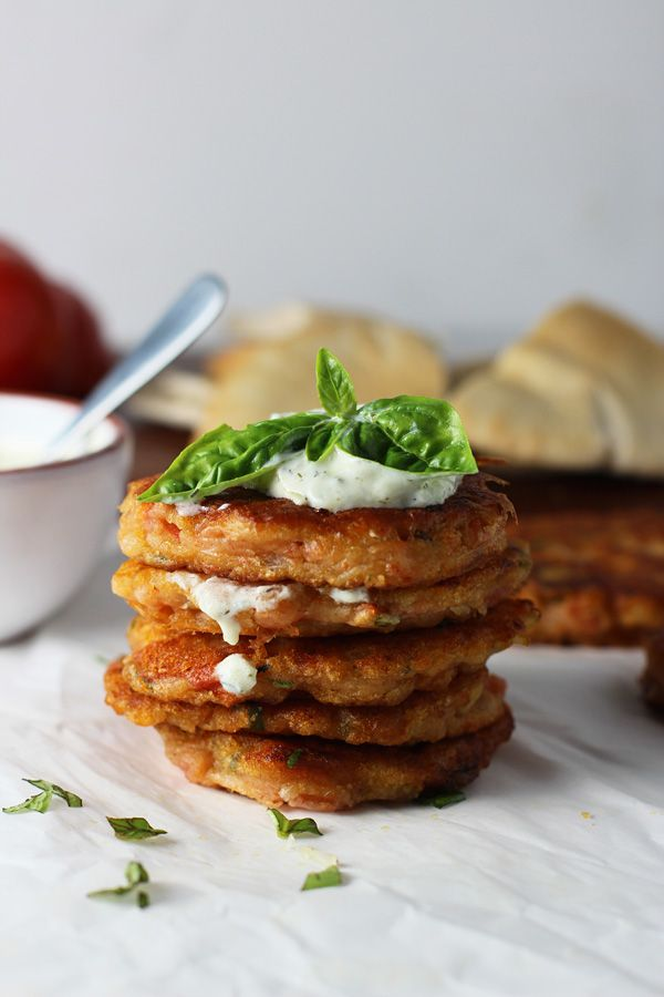 Tomatokeftedes {Greek Tomato Balls} ~ A Santorini specialty similar to an American fritter! SO delicious!