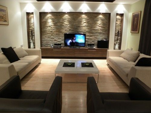 This is all awesome the seating the wall but the tv needs to be way bigger! #basement
