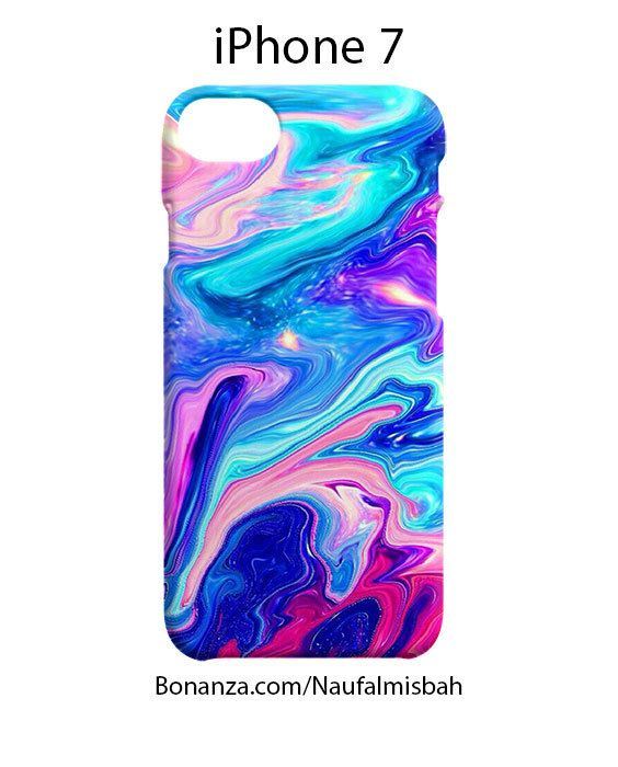 Watercolor Rainbow Paint iPhone 7 Case Cover Wrap Around