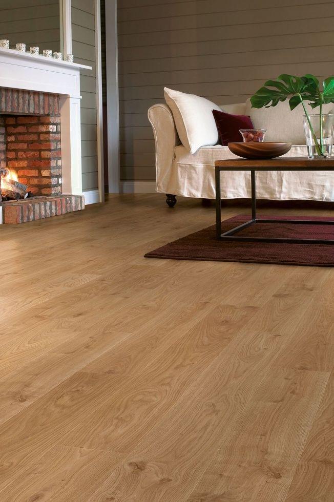 Podłoga QUICK STEP - panele laminowane, elite - dąb bielony jasny deska • Orfeusz - Wykładziny i dywany