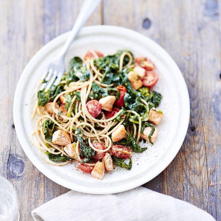 Spinat-Lachs-Pasta Rezepte   Weight Watchers