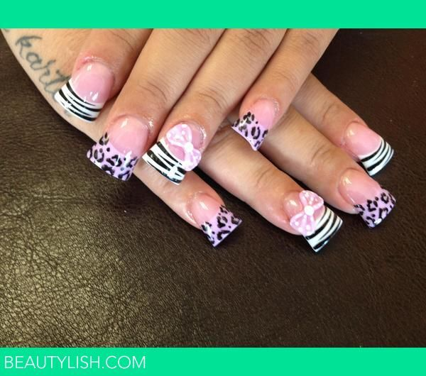61 best curved nails images on pinterest acrylic nail designs acrylic nails with bows acrylic animal print nails with 3d bows jersey style nails prinsesfo Images