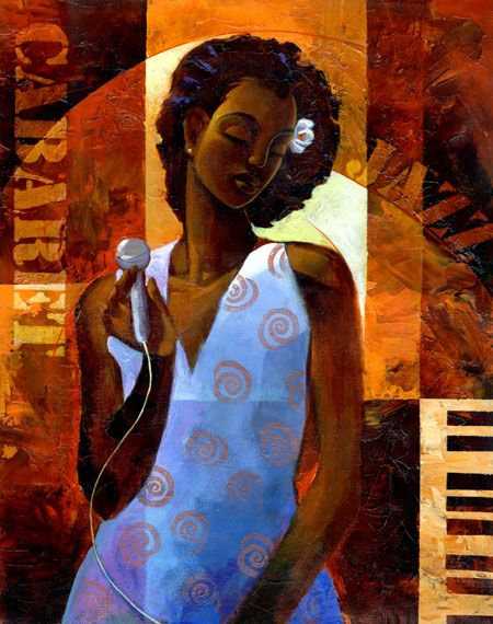 """""""Diva"""" by Keith Mallett.  (""""Diva"""" is a giclee on canvas fine art print in an edition of 200. This beautiful print was created using the finest archival inks. Mounted on stretcher bars, it has been enhanced by the artist using acrylic paint.)"""