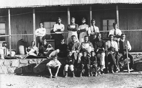 Gandhi and his people in South Africa 1910.