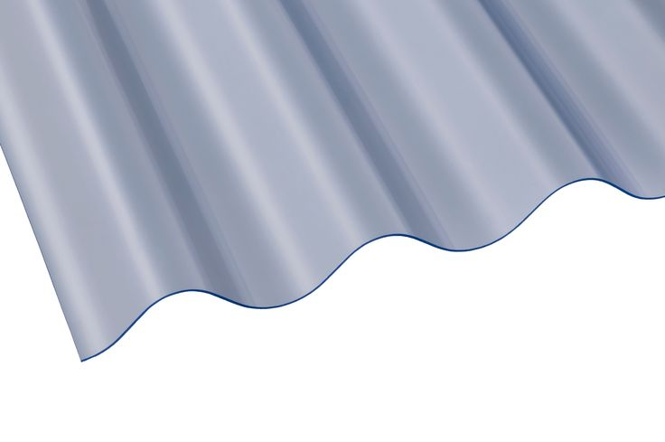 Clear Corrugated PVC Roofing Sheet 2745mm x 762mm, Pack of 10 | Departments | DIY at B&Q