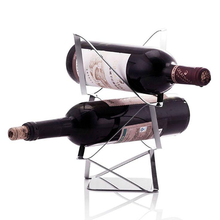2 бутылок шкаф держатели из нержавеющей стали творческие европейском стиле винные бутылки пива стенд держатели-3 подарок для любителей вина бесплатная доставка(China (Mainland))