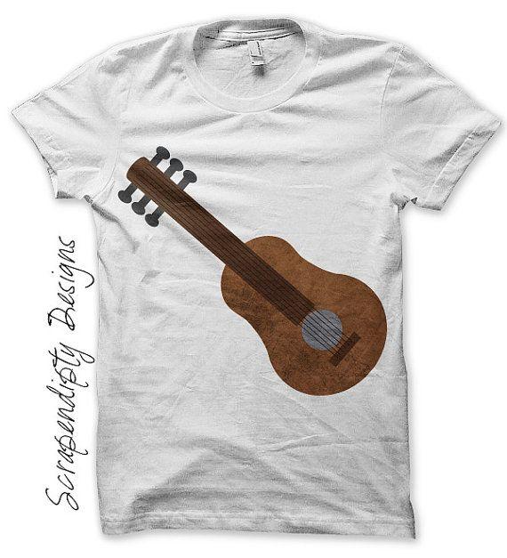 Guitar Iron on Transfer - Music Iron on Shirt PDF / Kids Guitar Shirt / Toddler Hippie Tshirt / Boys Musical Printable / Mens Music IT199-C