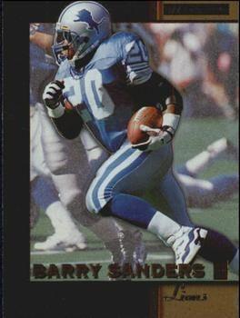 1996 Score Board NFL Lasers #4 Barry Sanders - Detroit Lions.