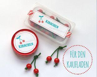 DIY Kaufladen - Kirschen basteln