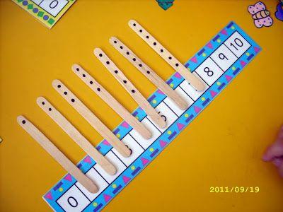 Mis recursos didácticos: Juego simple para aprender a ordenar los números 1-10