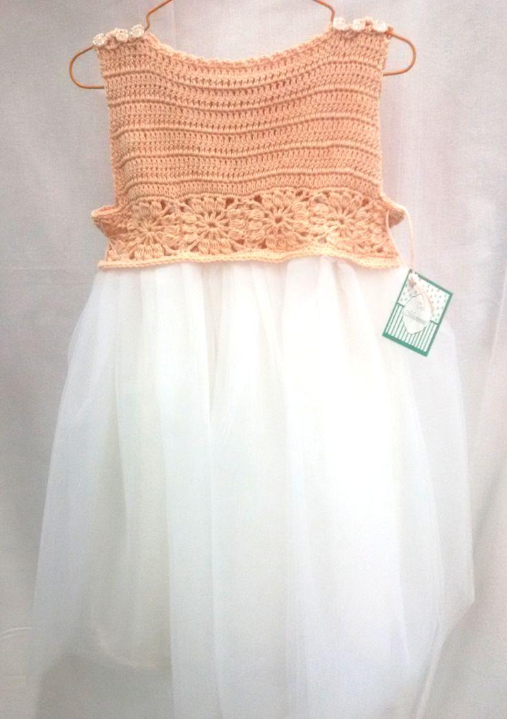 Handmade crochet tutu dress, by Tres Mignonne