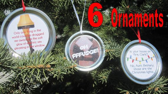 Funny Christmas Movie Quote Ornaments. Combine & Save! Bulk Buy - Choose Any 6.