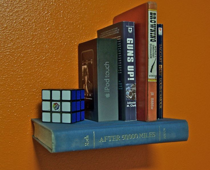 DIY Tutorial - Invisible Bookshelf Made From Recycled Book(s)