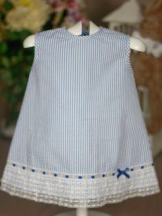 Vestido marinero azul Paz Rodriguez de Bebe | Les Bébés