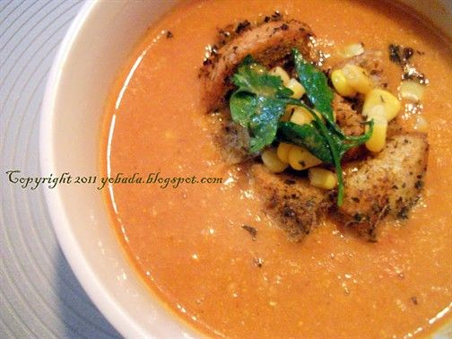 Cream of #Corn #Soup with Indian Twist