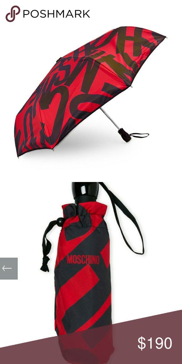 "New Red Moschino Women's Umbrella New with tags. Red Moschino Women's Umbrella. 36"". 100% Polyester. Moschino Accessories Umbrellas"