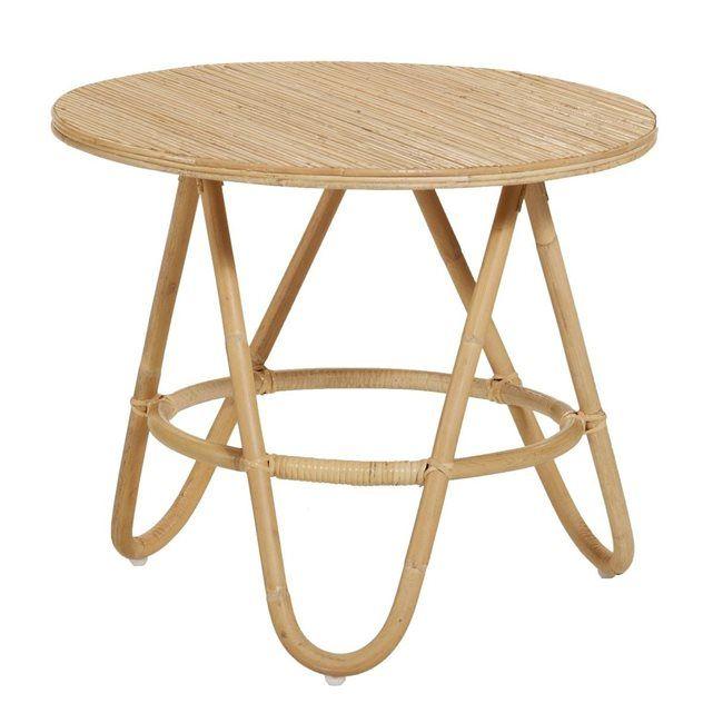 Table basse en rotin Diabolo grand modèle KOK | La Redoute Mobile